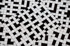 Crossword łamigłówki Zdjęcia Stock