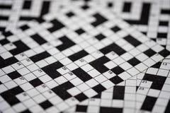 Crossword łamigłówki plama obrazy royalty free