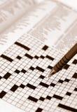 crossword łamigłówki sepiowy brzmienie zdjęcie royalty free