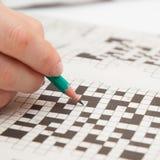 Crossword łamigłówki zakończenie Zdjęcia Royalty Free