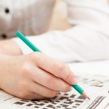 Crossword łamigłówki zakończenie Obraz Stock