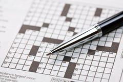 crossword zdjęcia stock