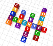 Crossword 23 - internet Royalty Free Stock Photo