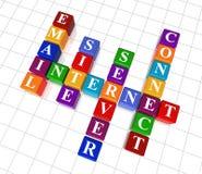 Crossword 23 - internet Royalty Free Stock Photo