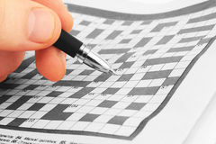 Crossword Royalty Free Stock Photography