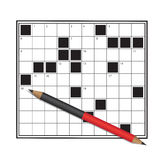 crossword Zdjęcia Royalty Free