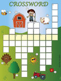 Crossword. Game for children with farm Royalty Free Stock Images