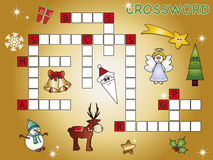 Crossword. Game for children for christmas Royalty Free Stock Photo
