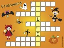 Crossword. Game for children for halloween Stock Image