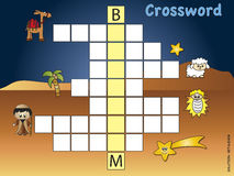 Crossword. Game for children for christmas Royalty Free Stock Images