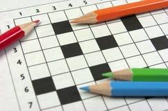 Crossword Zdjęcie Stock
