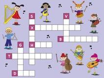 Crossword Obrazy Stock