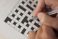 crossword photos libres de droits