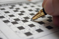 Crossword Royalty Free Stock Image