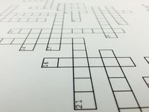 crossword images stock