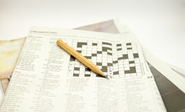 crossword image stock