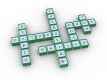 Crossword akcydensowa rewizja Fotografia Royalty Free