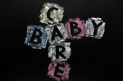 Crossword of baby and care Royalty Free Stock Photography