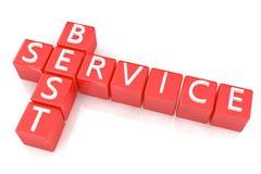 Crossword Best Service Stock Photo