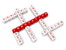 Crossword business innovation concept. 3d object Stock Images