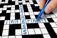 Crossword - Business and Internet Stock Images