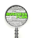 Crossword Business plan Stock Image