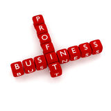 Crossword Business Profit. Render of cubes with text Business Profit vector illustration