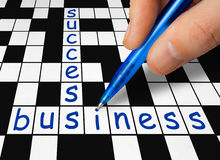 Crossword - business and success Royalty Free Stock Photography