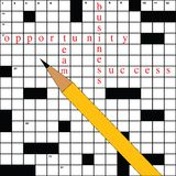 Crossword with business words Royalty Free Stock Images