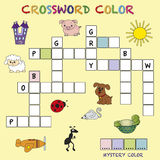 Crossword color. Game for children: crossword color Royalty Free Stock Photo