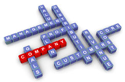 Crossword of company Stock Photos