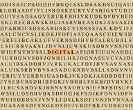 Crossword-digital Royalty Free Stock Photos