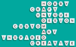 Crossword dla słowa handmade Zdjęcie Stock
