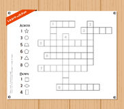 Crossword, education game for children about Geometric Shapes Royalty Free Stock Photography