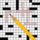 Crossword environment Stock Image