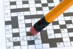 Crossword Error Royalty Free Stock Images