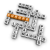 Crossword europe Stock Photo