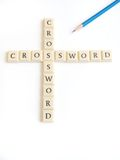 Crossword game Royalty Free Stock Photography