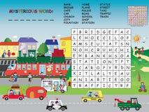 Crossword. Game for children: crossword for children Royalty Free Stock Photo