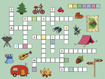 Crossword. Game for children: crossword with illustrations Stock Image