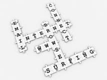 crossword gemowa internetów łamigłówka Zdjęcie Stock