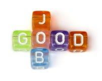 Crossword good job stock images