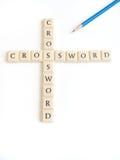 crossword gra Fotografia Royalty Free