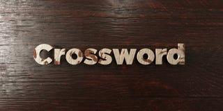 Crossword - grungy drewniany nagłówek na klonie - 3D odpłacający się królewskość bezpłatny akcyjny wizerunek Obrazy Royalty Free