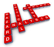 Crossword of haccp Stock Photos