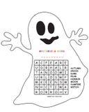 Crossword for halloween Stock Photography