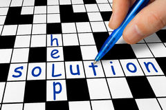 Crossword - Help and Solution Stock Photo
