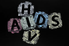 Crossword of HIV and AIDS Royalty Free Stock Photo
