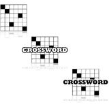 Crossword icons Stock Photography