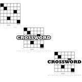 Crossword icons Stock Photography